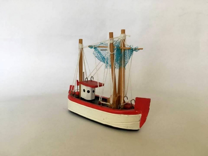 Macheta lemn vapor RICCIONE, 12x10cm, colectie, decor, naval, corabie