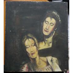 Ulei / carton , Portrete , pictor roman neidentificat , deosebit