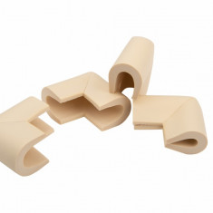 Set 4 coltare in forma U crem 3.5x0.7x6 cm