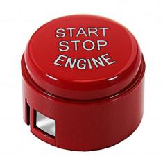 Capac Buton Start-Stop Compatibil Bmw Seria 6 F06 2011→ SSV-8005 Rosu