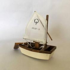 Macheta lemn barca/vapor RICCIONE, 9x8cm, colectie, decor, naval, Academy