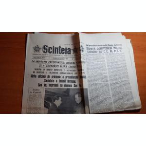 ziarul  scanteia 24 octombrie 1987-medalia de aur,echipa feminina de gimnastica