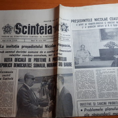 ziarul scanteia 16 iunie 1987-vizita presedintelui somalia in romania