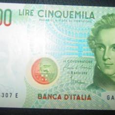 Italia : 5000 lire 1985 . UNC ( bancnota necirculata )