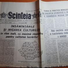 ziarul scanteia 6 aprilie 1989-insamantarile si irigarea culturilor