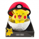 Pokemon, Jucarie plus Pikachu cu Pokeball 20 cm, Tomy