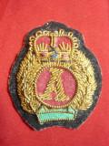 Insigna Militara de Sapca Daneza ,material textil + margele ,h=4,2cm