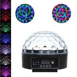 Glob proiector LED RGB 18W, control sunet, telecomanda, interior