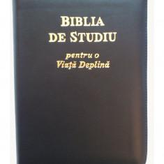 Biblia de studiu pentru o viata deplina, index, coperta piele