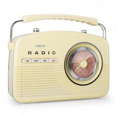 OneConcept Radio portabil NR-12 Retro anii 50 Crem