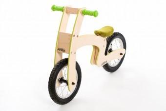 Bicicleta de balans din lemn copii 36luni+ Pipello Green foto