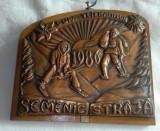 Medalie turism Premiu Concurs de Schi Cupa veteranilor Semenic STRAJA 1986