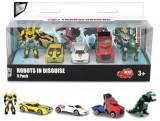 Set 5 masinute robot Transformers - Bumblebee, Metal