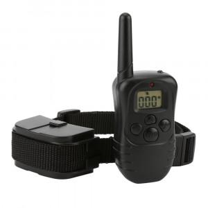 Zgarda dresaj caine cu GARANTIE 12 LUNI-Vibratie Soc Sunet Telecomanda Led 300m