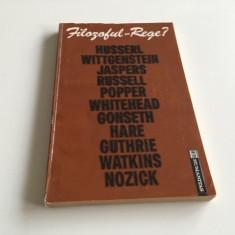 FILOZOFUL REGE- FILOZOFIE MORALA, VIATA PUBLICA. HUSSERL WITTGENSTEIN JASPERS...