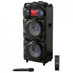 Boxa portabila Akai, ABTS-T1203, 90W, Bluetooth, Karaoke, Radio,Nefolosita,Desig