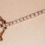 Brățară aur cu diamante 2,7 ct, certificat de garanție