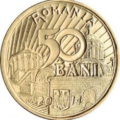 SV * Romania  BNR  50  BANI  2014  < Vlaicu Vladislav >     UNC     in capsula