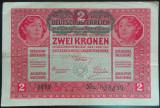 Bancnota ISTORICA 2 COROANE - AUSTRO-UNGARIA (AUSTRIA), anul 1917   *cod 176 B