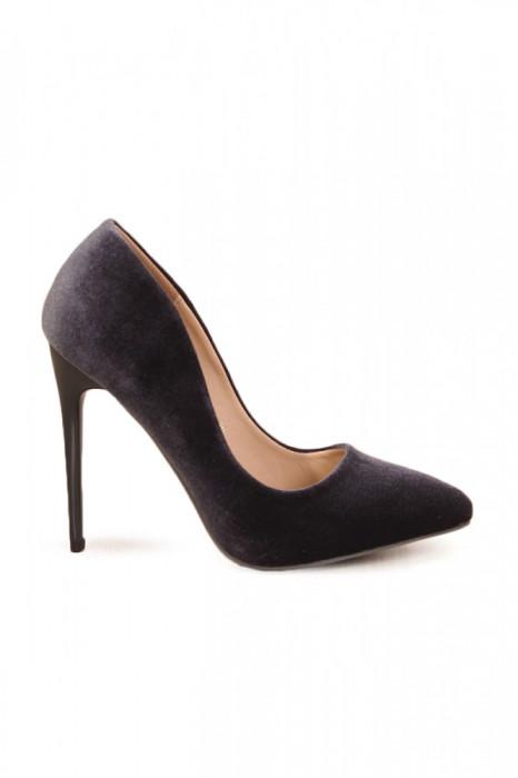 PDS8-1844 Pantofi stiletto din catifea