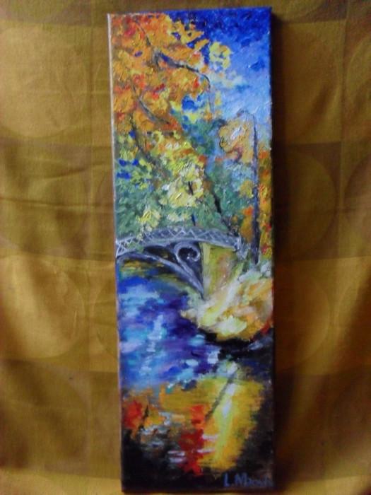 In parc 2-pictura ulei pe panza;Macedon Luiza