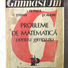 PROBLEME DE MATEMATICA PENTRU GIMNAZIU - I. Petrica, C. Stefan, St. Alexe, 1991, Alta editura