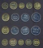 LESOTHO SET COMPLET DE MONEDE 1+2+5+10+20+50 Lisente 1+2+5 Maloti 1992-2010 UNC