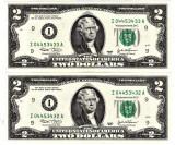 SUA 2 DOLARI TWO DOLLARS 2003 Declaratia de Indep.1776 UNC serii continue 2 buc.