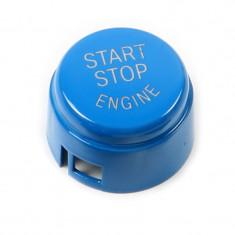 Capac Buton Start-Stop Compatibil Bmw Seria 6 F12 2011→ SSV-8005 Albastru