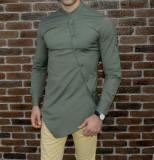 Camasa cachi asimetrica -camasa asimetrica camasa slim fit camasa ocazie cod 187