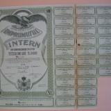 Imprumutul intern de consolidare 1935 (lot 3 titluri, 1000, 2000, 5000 lei)