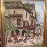 Goblen mare imagine medievala