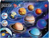 Puzzle 3D sistemul solar - 27/54/72/108 piese, Ravensburger