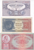 Bancnota Cehoslovacia 10-1.000 Coroane 1926-34 - P20-26 ( set 7 reproduceri )