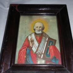 Icoana veche tip tablu cu rama si protejat de geam,icoana sfintita,T.GRATUIT