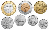 Botswana 2013 - Set 7 monede UNC, fauna