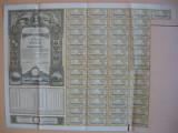 (1)Imprumutul reintregirii - titlu de 10000 lei, 49 cupoane - 1941