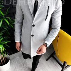 Palton de iarna - pentru barbati, gri - A3110, Din imagine