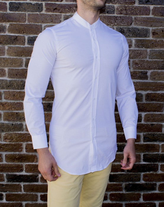 Camasa alba - camasa slim fit camasa fashion camasa lunga cod 189