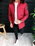 Geaca pentru barbati fashion - slimfit - PREMIUM - GRENA cu blana maro- A3137, L, M, S, Din imagine