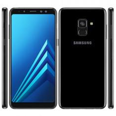 Samsung Galaxy A8 2018 dual sim black ,sigilat cutie,2ani garantie!PRET:1300lei, Negru, Neblocat, Smartphone