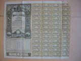 (4)Imprumutul reintregirii - titlu de 10000 lei, 48 cupoane - 1941