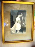 Fotografie  militar   cu   sotia    cu  rama  si   geam