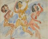 Acuarela Marcel Iancu ( Janco), Nud, Avangardism