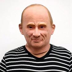 Masca latex presedinte rus Putin Rusia petrecere Halloween bal mascat +CADOU!