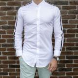 Camasa barbat - camasa tunica camasa slim fit camasa alba camasa lunga cod 184, L, XL, XXL, Maneca lunga, Din imagine