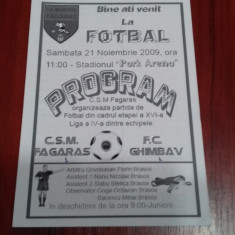 program         CSM  Fagaras  -  FC  Ghimbav