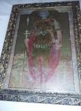 Icoana veche tip tablou cu rama si protejat de geam,icoana sfintita,T.GRATUIT