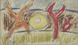 Pastel Marcel Iancu ( Janco), Abstract, Avangardism
