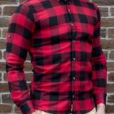 Camasa casmir - camasa slim fit camasa fashion camasa carouri cod 190, L, S, XL, XXL, Maneca lunga, Din imagine